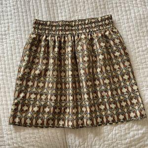 Mini silk skirt from Club Monaco